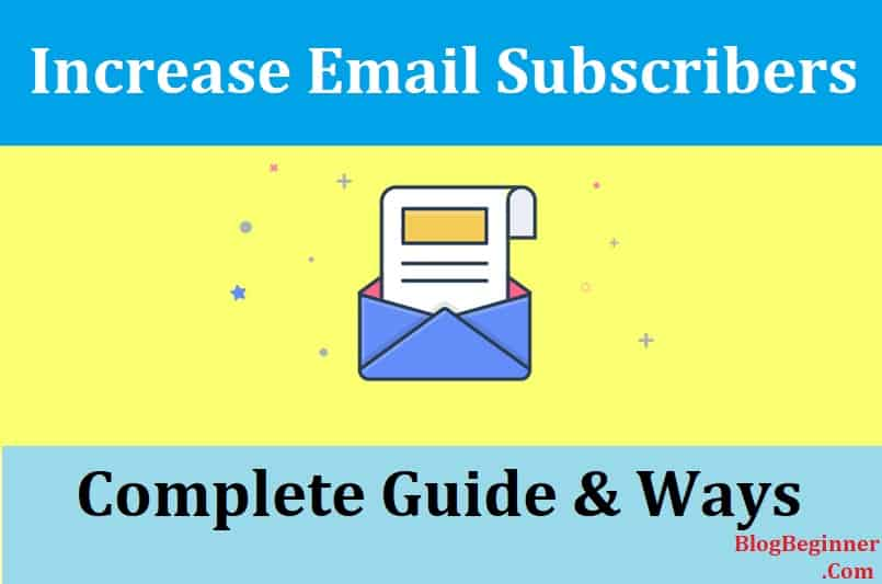 how to increase email subscriber
