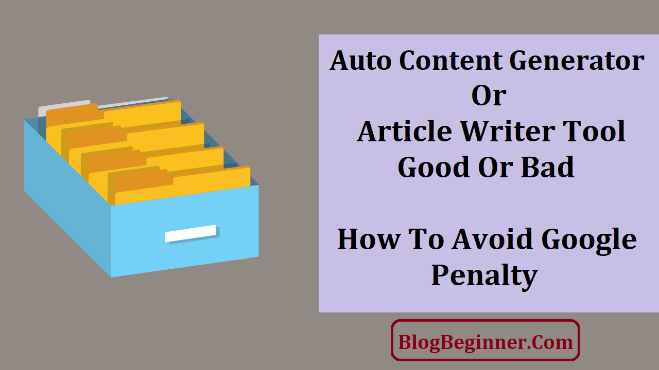 Auto Content Generator Or Article Writer Tool
