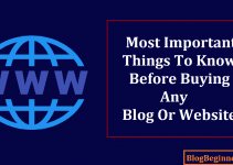 Most Important Things to Know Before Buying Any Blog or Website