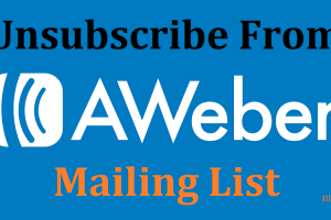 Unsubscribe from Aweber Mailing List
