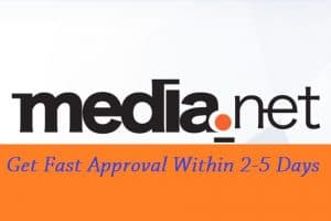Get Fast Approval on Media Net