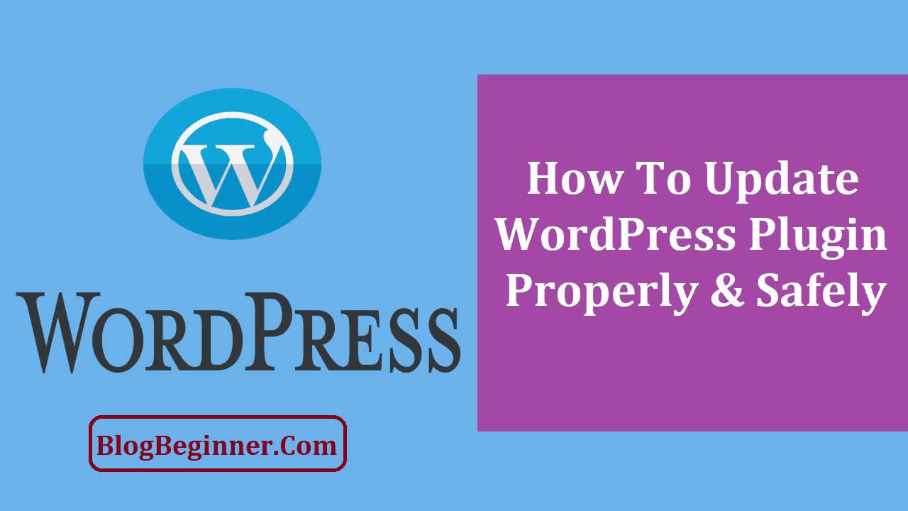How To Update WordPress Plugin Properly Safely