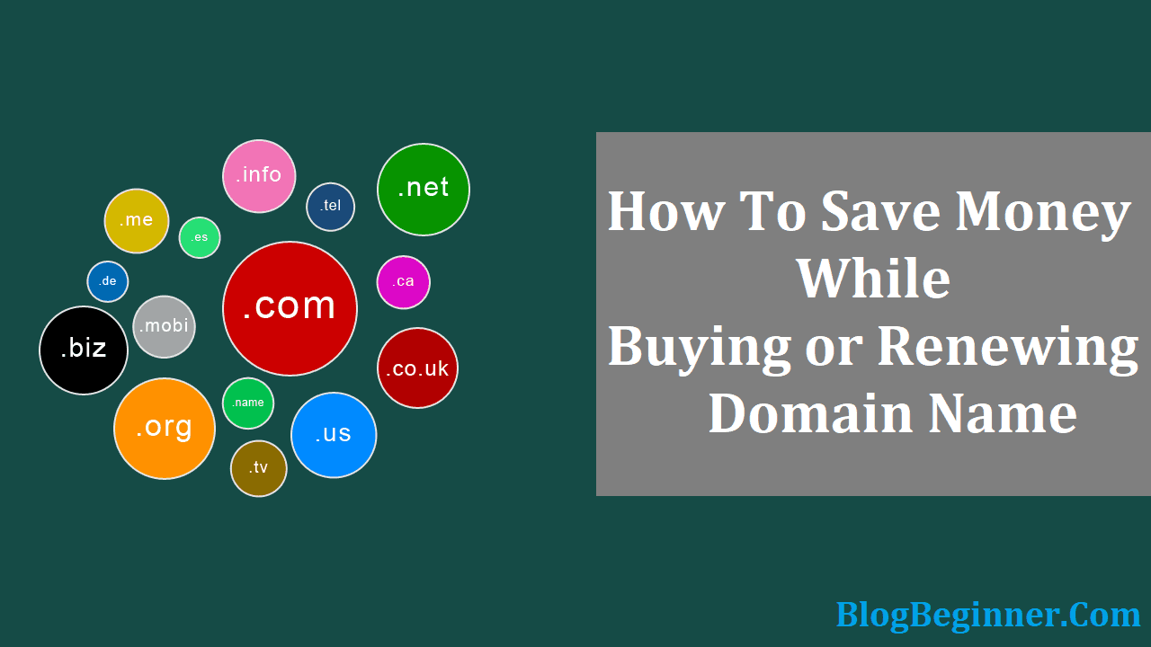 How to Save Money While Buying or Renewing Domain
