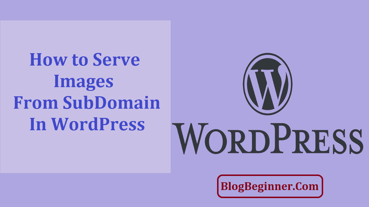 How to Serve Images from a SubDomain In WordPress