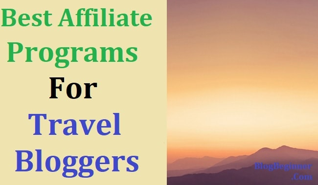 affiliate program for travel bloggers