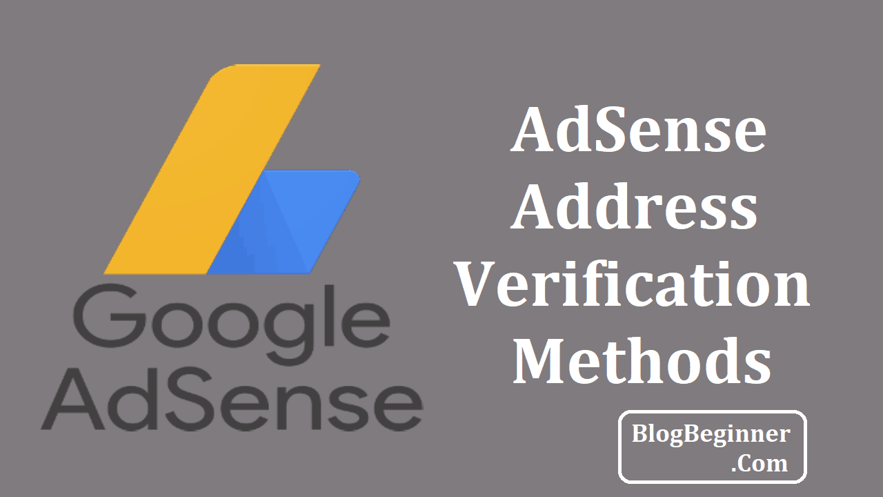 google adsense address verification method