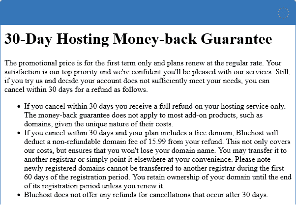 Bluehost-moneyback