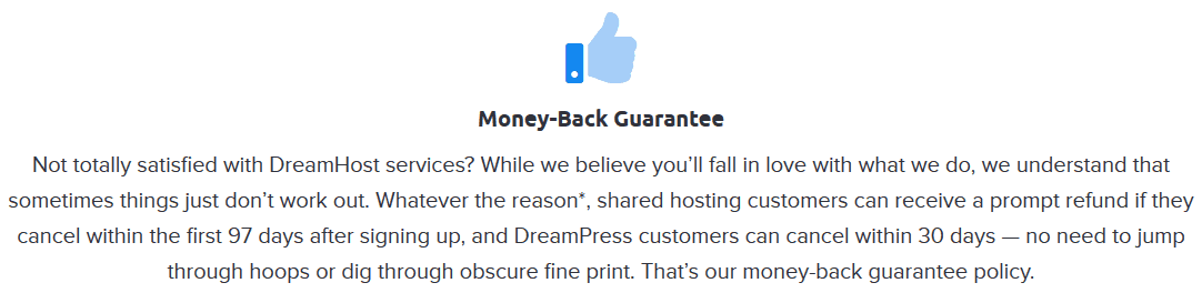 Dreamhost-moneyback