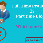 Full Time Pro Blogging or Part time Blogging: Which one Is Best?