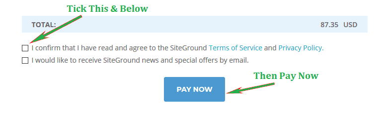 Siteground Pay Now