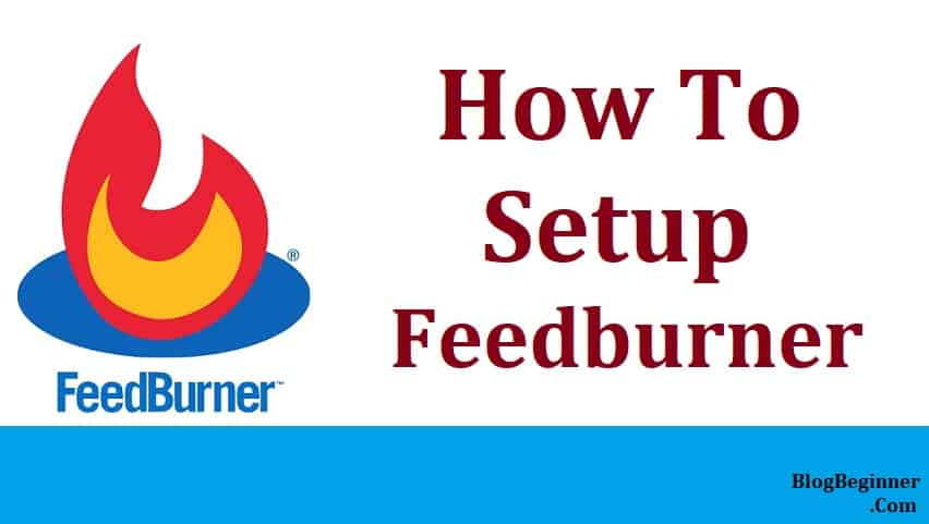 how to setup feedburner