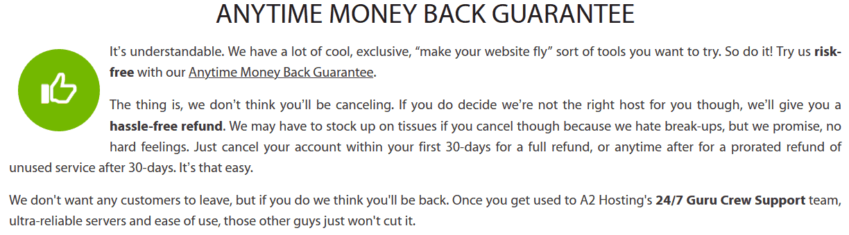 A2hosting-moneyback