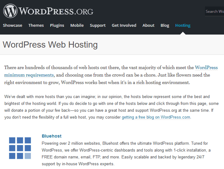 Bluehost-wprecommended