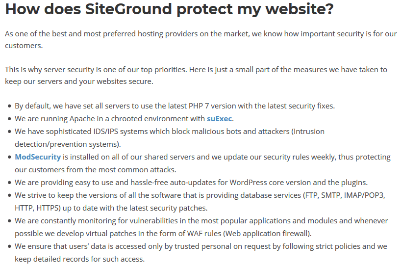 Siteground-security