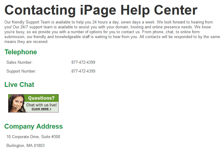 iPage-support