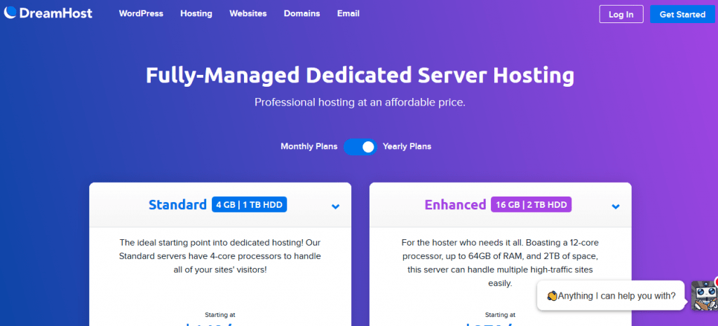 dreamhost dedicated hosting