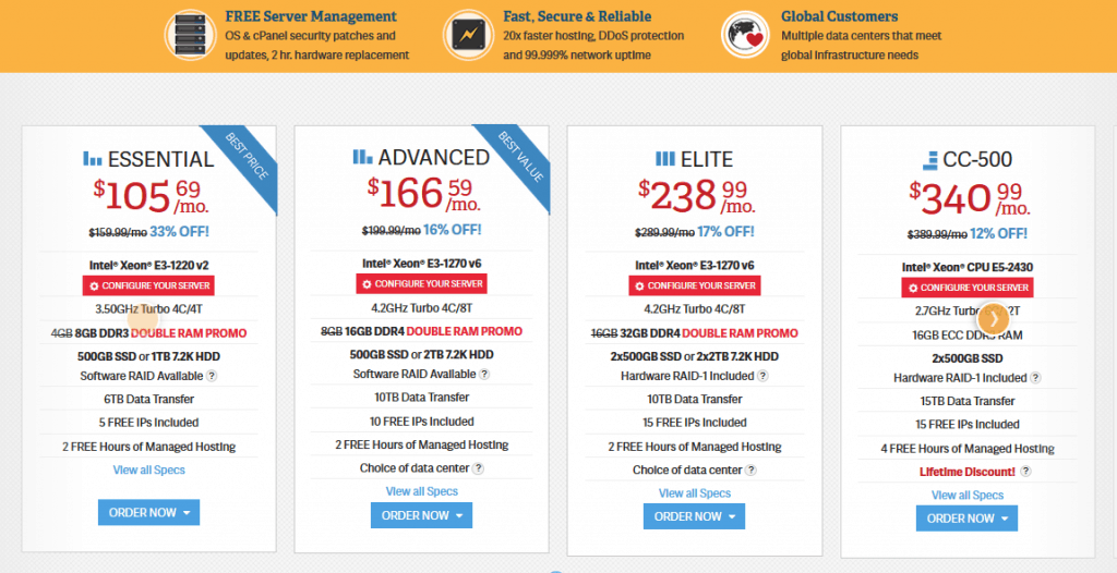 inmotion hosting dedicated hosting