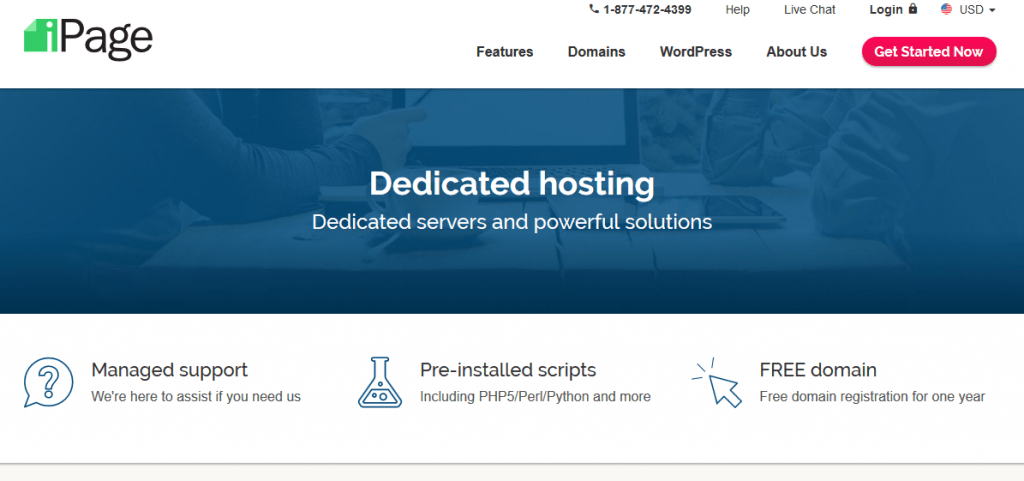 ipage dedicated hosting